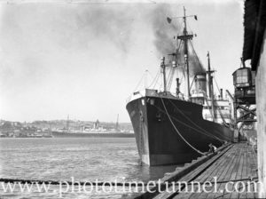 Ship Stassfurt in Newcastle Harbour, NSW, April 2, 1936. (2)