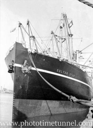 Ship Sultan Star in Newcastle Harbour, NSW, January 22, 1936.