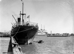 Ship Sagoland in Newcastle Harbour, NSW, April 20, 1936.