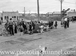 Aftermath of a tram accident at Jesmond, Newcastle, NSW, May 21, 1936.