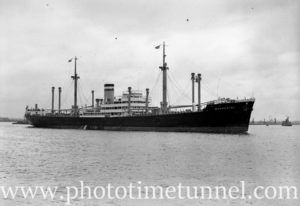 Ship Wuppertal in Newcastle Harbour, NSW, January 23, 1937. (1)