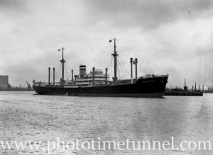 Ship Wuppertal in Newcastle Harbour, NSW, January 23, 1937. (2)
