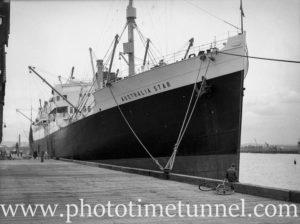 Ship Australia Star in Newcastle Harbour February 12, 1937.