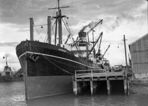 Ship Mareeba in Newcastle Harbour, April 22, 1937.