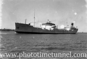 Ship Hoegh Hood in Newcastle Harbour NSW, August 2, 1937.