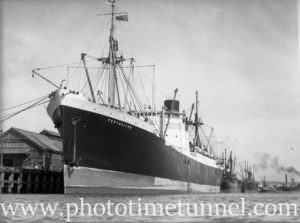 Ship Perthshire in Newcastle Harbour, NSW, August 18, 1937.