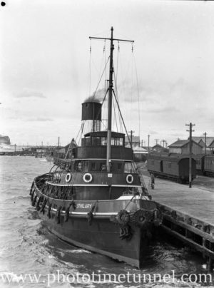 Tug St Hilary in Newcastle Harbour, NSW, August 8, 1938.