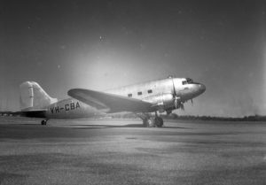 The Commonwealth Bank's Douglas DC-3 aircraft, VH-CBA at Williamtown Airport, near Newcastle NSW, on September 17, 1947. (2)