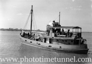 Vessel Larwas in Newcastle Harbour, NSW, September 24, 1946.