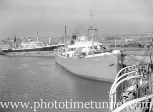 Ship Trident in Newcastle Harbour, NSW, June 11, 1946.