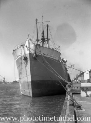Ship Queen Adelaide in Newcastle Harbour, October 31, 1946.