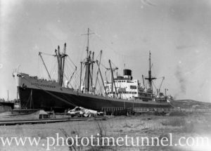 Ship City of Khartoum in Newcastle Harbour, NSW, September 17, 1946.