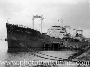 Tanker British Commando at the oil berth, Newcastle Harbour, January 1931, 1947. (1)