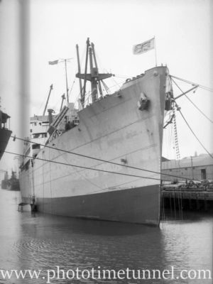 Ship Javanese Prince in Newcastle Harbour, NSW, April 8, 1946. (1)