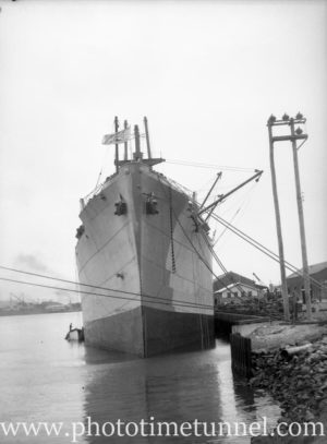 Ship Javanese Prince in Newcastle Harbour, NSW, April 8, 1946. (2)