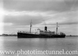 Ship Quanza in Newcastle Harbour, NSW, October 15, 1946. (2)