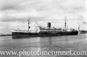 Ship Quanza in Newcastle Harbour, NSW, October 15, 1946. (3)