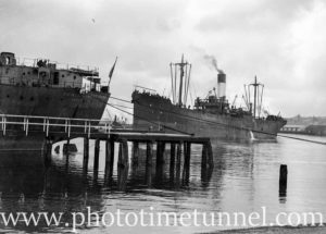 Ship Prince Albert Park in Newcastle Harbour, NSW, May 20, 1947.