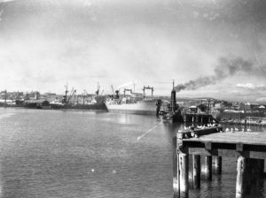 Shipping in Newcastle Harbour, April 10, 1947. (2)
