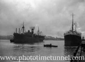 Ship Taron in Newcastle Harbour, NSW, May 20, 1947.