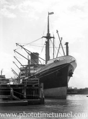 Ship Glengarry in Newcastle Harbour, NSW, postwar 1940s.