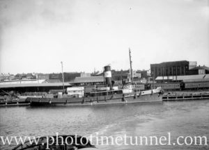 Tug St Hilary in Newcastle Harbour, NSW, January 29, 1948.