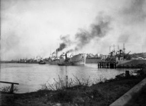 Shipping in Newcastle Harbour, October 29, 1946.