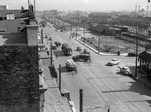 View towards Civic Railway Station, Newcastle, NSW, May 20, 1939. (2)