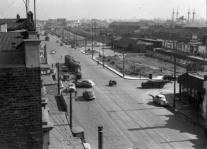 View towards Civic Railway Station, Newcastle, NSW, May 20, 1939. (3)