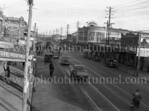 Maitland Road, Islington, NSW, on June 9, 1939, with Herbert's Regent Cinema at right. (1)
