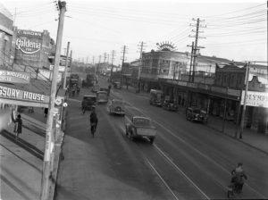 Maitland Road, Islington, NSW, on June 9, 1939, with Herbert's Regent Cinema at right. (1)