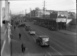 Maitland Road, Islington, NSW, on June 9, 1939, with Herbert's Regent Cinema at right. (2)