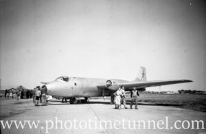 Canberra bomber at an air show at RAAF Williamtown fighter base, near Newcastle, NSW, in the early 1960s. (2)