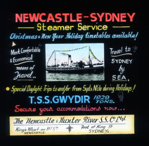 By steamer overnight to Sydney