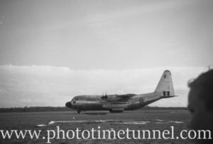 Lockheed C-130 Hercules aircraft at an air show at RAAF Williamtown fighter base, near Newcastle, NSW, in the early 1960s. (3)