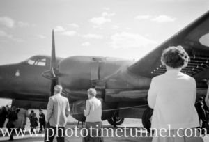 Lockheed P-2 Neptune at an air show at RAAF Williamtown fighter base, near Newcastle, NSW, in the early 1960s. (3)
