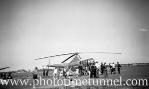 Sikorsky S-51 helicopter at an air show at RAAF Williamtown fighter base, near Newcastle, NSW, in the early 1960s. (2)