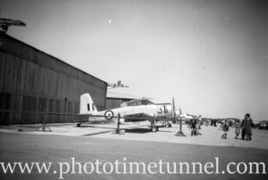 Winjeel trainer at an air show at RAAF Williamtown fighter base, near Newcastle, NSW, in the early 1960s. (2)