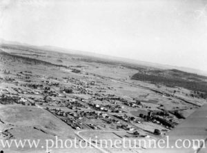 Aerial view of Greta and Whitburn Colliery, NSW, circa 1940s. (2)