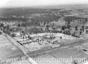 Aerial view of Turton's brickworks, East Maitland, circa 1940s. (2)