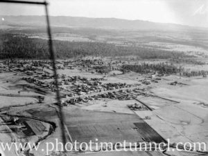 Aerial view of Branxton, NSW, circa 1940s. (1)