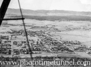 Aerial view of Branxton, NSW, circa 1940s. (2)