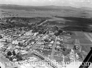 Aerial view of Maitland, NSW, circa 1940s. (4)