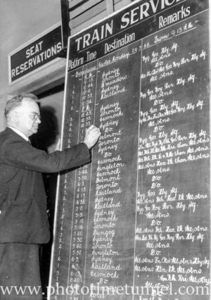 Signwriter Mr Richardson at Newcastle Railway Station (3)