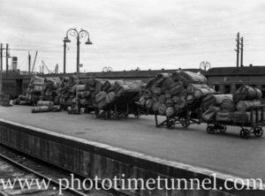 Parcels office at Newcastle Railway Station, NSW, November 29, 1949 (1)