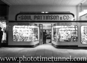 Soul Pattinson chemist, Hunter Street Newcastle, December 11, 1940.