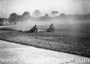Motorcyclists at Back to Wallsend (Newcastle, NSW) celebrations, October 26, 1935. (10)