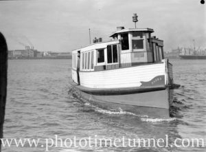 Newcastle Harbour ferry Darra at Stockton, July 14, 1937. (2)