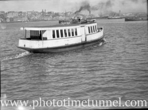 Newcastle Harbour ferry Darra at Stockton, July 14, 1937. (3)