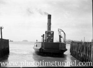 Harbour punt Lurgurena undergoing trials in Newcastle Harbour, NSW, October 9, 1946. (5)